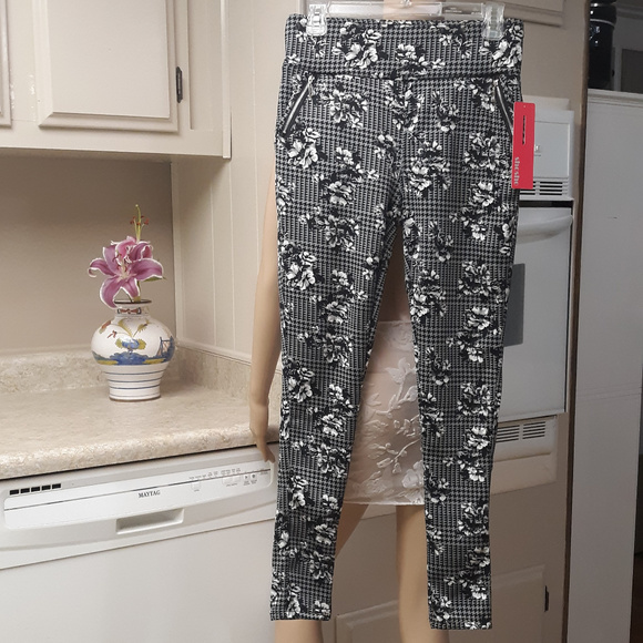 e54ca72dfa348c shosho Pants | Black Gray White Leggings Wzipper Design | Poshmark